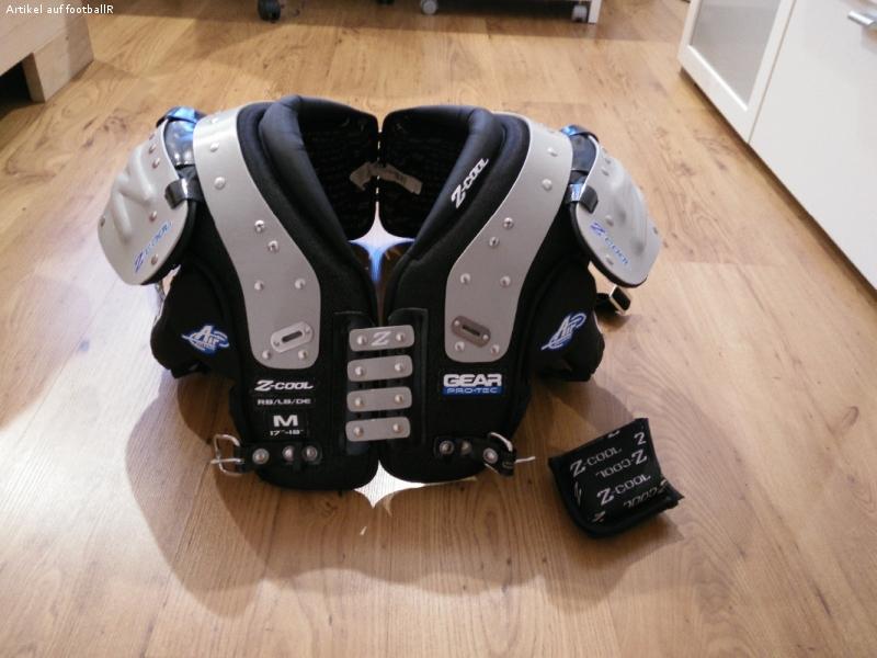 Gear Pro-Tec Z-Cool Shoulder Pad Größe M (RB/LB/DE)