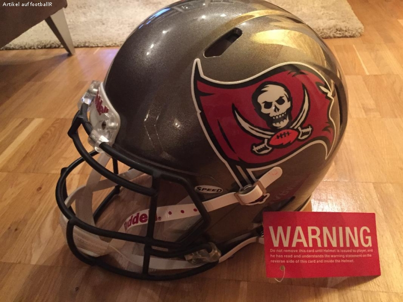 Tampa Bay Buccaneers Authentic Riddell Revolution Speed Helm